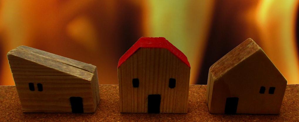 賃貸物件で火災発生